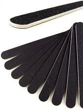 50 Profi Nagelfeilen schwarz Körnung 100/180 gerade 177 mm Feile Nail Art NEU