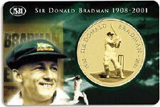 "Australia - ""CRICKET ~ SIR DONALD BRADMAN"" $5 UNC Coin in Mint Card 2001 !"