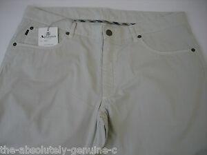 AQUASCUTUM-Beige-CHESTER-Jean-Style-Trousers-sz-36-BNWT-Slimfit-ITALIAN-Made