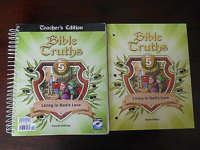 Bob Jones Bible Truths 5 Fourth Edition Teacher guide CD and workbook homeschool