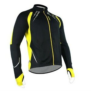 Men's Winter Cycling Jacket Bike Fleece Thermal Bicycle Long Sleeve Jersey S-3XL