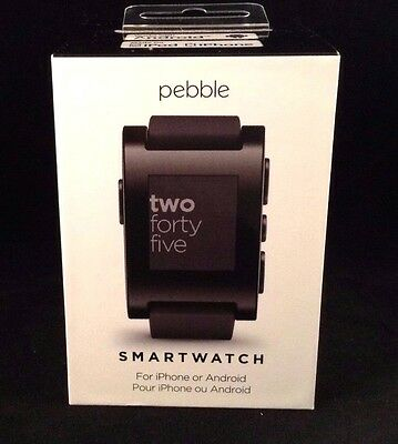 NEW!!! Pebble Smart Watch 301 for Apple iPhone & Android Devices - Black