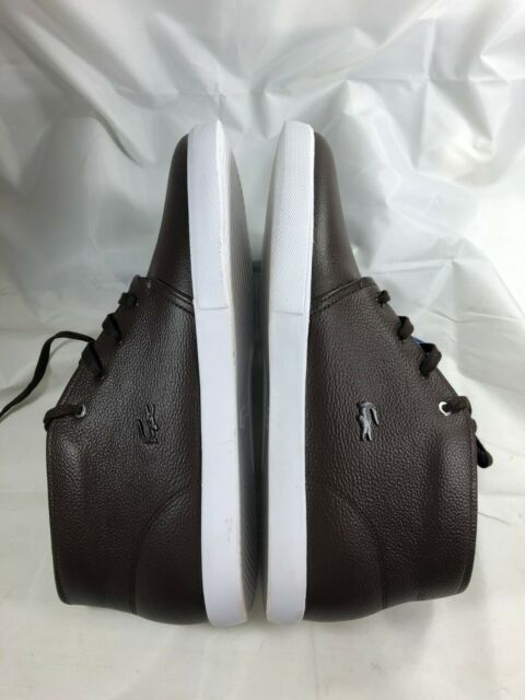 LACOSTE Mens Timeless Fashion ASPARTA 119 Brown Leather Sneakers Shoes Casual