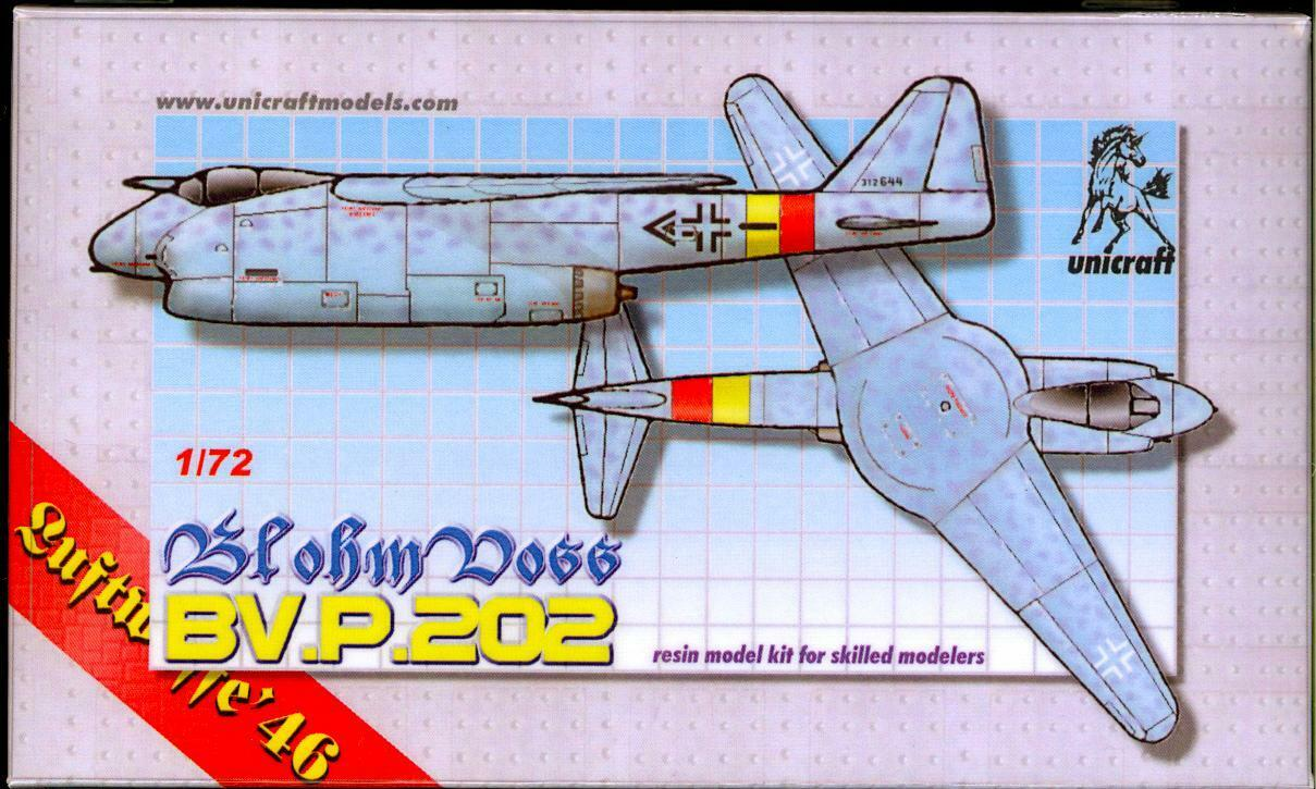 Unicraft Models 1 72 BLOHM und VOSS Bv.P.202 Swing Wing Fighter Project