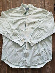 Men-039-s-Polo-Ralph-Lauren-Blake-Solid-Blue-LS-Button-Down-100-Cotton-Shirt-XL