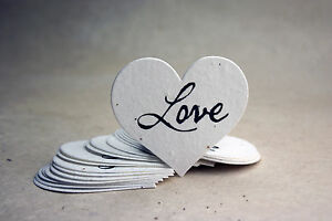 Large heart shaped love flower seed paper wedding memorial favors ebay image is loading large heart shaped love flower seed paper wedding mightylinksfo