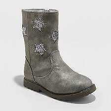 Cat /& Jack Estella Silver Bunny Boots Toddler Girl Size 7 New W//Tags