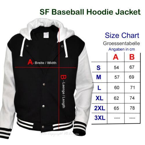 1288 * Baseball Jacket Hoodie veste old school kustom hot rod vintage rockabilly