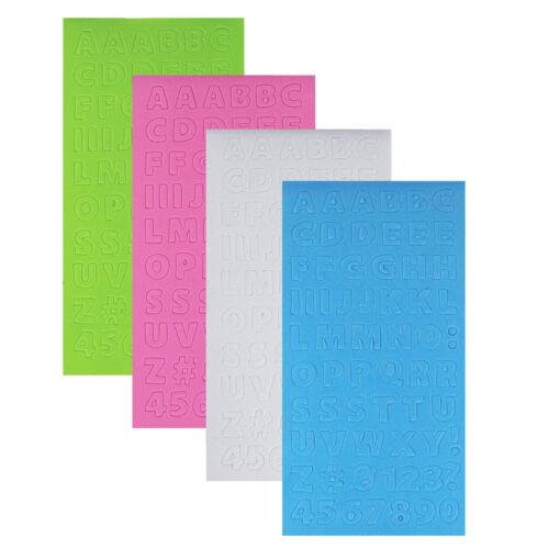 8-Inch 4-Sheets Alphabet Letters Foam Sticker Book