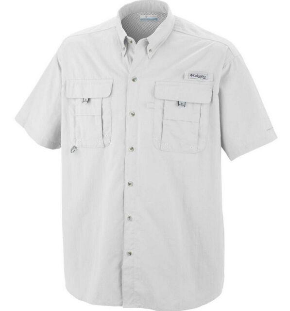 a604971781d Columbia Men s Pfg Bahama II Short Sleeve Shirt Size Medium White