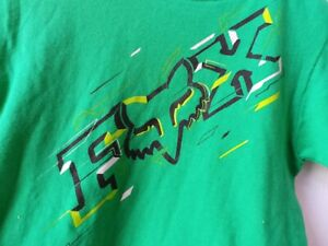 NWOT Fox Racing Kids Spliced Up SS T-Shirt Green Size Small Ages 3//4