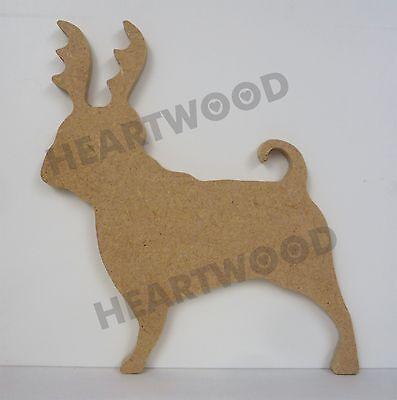MDF Craft Dog Paw Shapes 3mm Thick Puppy Wolf Dog Pug Paw Prints Design