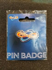 Official-Thorpe-Park-Pin-Badge-RARE-LARGE-RESORT-LOGO-PIN-2015-Merlin