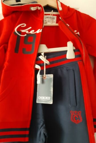 Cherokee Boys Red /& Blue Athletic Tracksuit 7-8 9-10 Years FREE UK P/&P