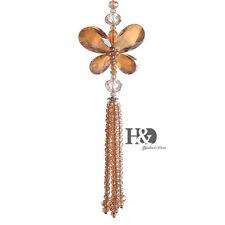 Suncatcher Crystal Healing Pendulum Lamp Prisms Hanging Butterfly Car Decor Gift