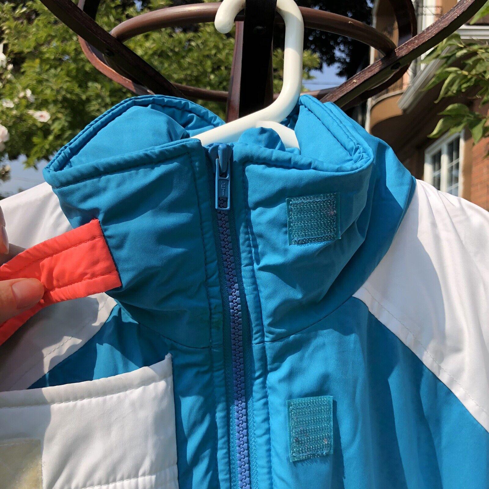Vintage 90s Ski Multi-color Color Block Jacket Co… - image 6