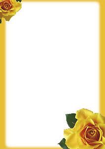 motivpapier briefpapier 20 blatt din a4 gelbe rosen einladung, Einladungen