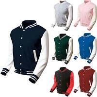 New Mens Varsity College Letterman Baseball Quality Jacket Uniform Jersey Sports