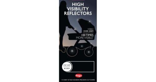 PRAM REFLECTORS BY KOODEE UK POGU HIGH VISIBILITY STICKERS BLACK  BNIP