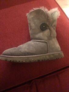 6280692b6d6 Details about UGG Australia 5803 Bailey Button Dark Gray Boots Women's Size  6 Short