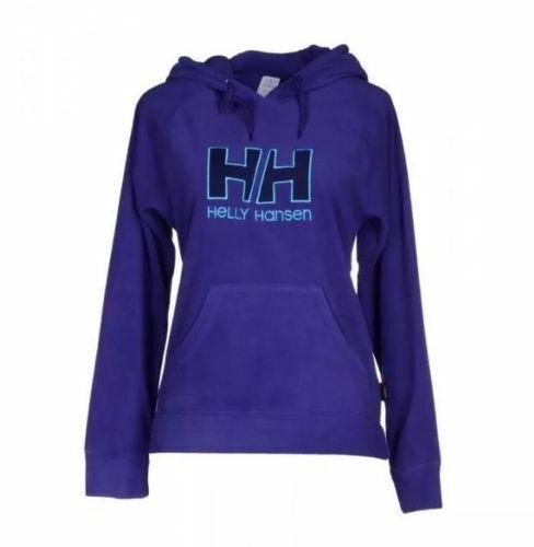 Helly Hansen Femme Violet HH Logo à Capuche Pull à Capuche Top Large 14 Bnwt