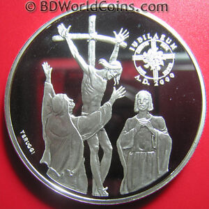 1999-ANDORRA-10-DINERS-94oz-SILVER-PROOF-JESUS-ON-THE-CROSS-GREAT-JUBILEE-2000