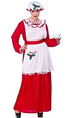 Mother Christmas Outfits Plus Size.Mrs Santa Claus Mother Christmas Xmas Fancy Dress Costume Plus Size Xl 20 24 Ebay