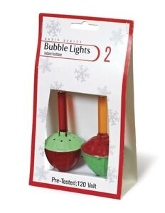 Details About New Christmas Bubble Light Replacement Bulbs Pack Of 2 Red And Yellow 693170