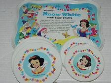 Walt Disney Snow White & the Seven Dwarfs Childs Tea Set Plates Vintage Antique
