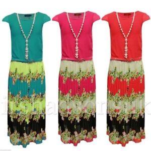 f8831dfe07 Kids Girls Chiffon Maxi Dress Floral Print Summer Long Party Dresses ...