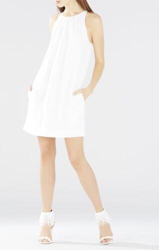 Lmq63f44 Lynzie m640a Nieuwe jurk plisse maat M mouwloze shift White Bcbg xqna0wZ4H