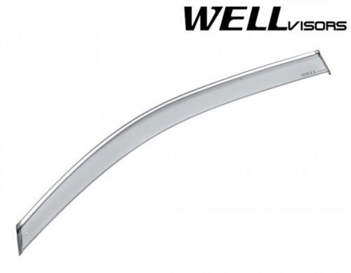 Fit 15-18 Yukon Escalade Tahoe WellVisors Chrome Trim Clip-On Window Visors