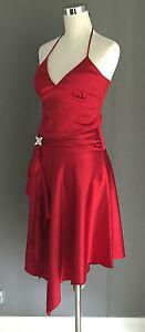 NWT-PURPLE-PATCH-by-MR-K-Burgundy-Satin-Halter-Neck-Dress-Sizes-8-10-amp-12