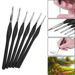 Model Maker Art Extra Fine Detail Paint Brushes 6 Sets,Miniatures Warhammer