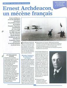 WWI-Ernest-Archdeacon-L-039-Aero-Club-de-France-Deutsch-de-la-Meurthe-FRANCE-FICHE