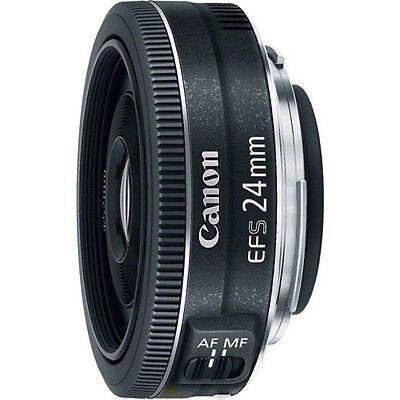 Canon EF-S 24mm f/2.8 STM Camera Wide Angle Lens EOS 7D 70D Rebel SL1 T3i T5 T5i