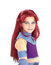 Kids Girls Teen Titan Starfire Child's Long Straight Red Costume Wig