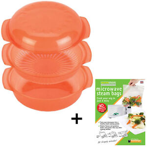 Image Is Loading Dishwasher Safe Microwave Oven Steamer Dish Steaming Rack