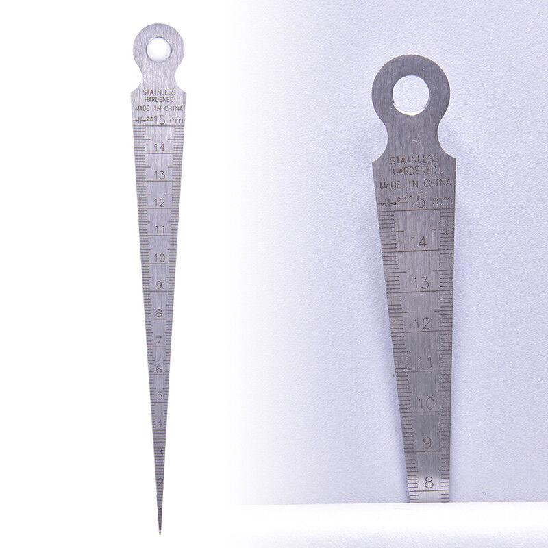 1-15mm Stainless steel taper gauge feeler gap hole double side measuring tool 3C