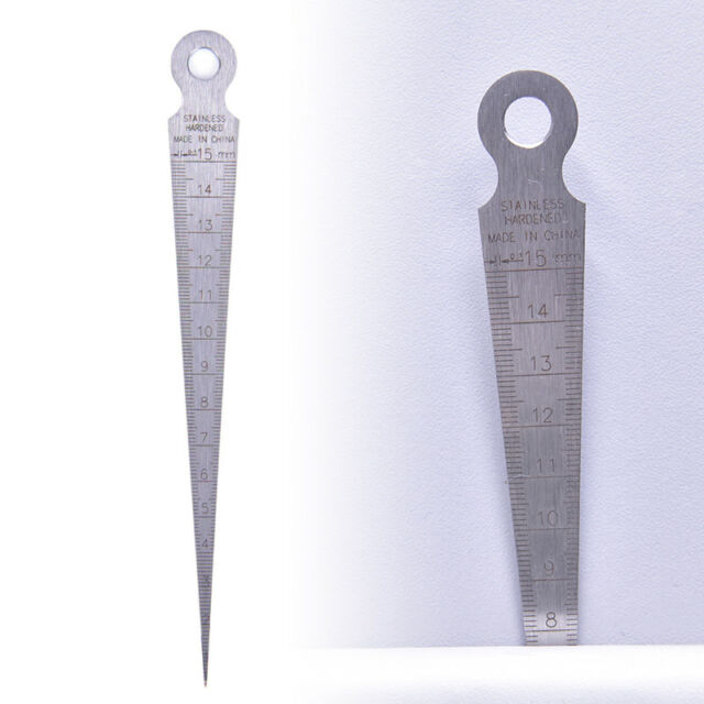 1-15mm Stainless steel taper gauge feeler gap hole double side measuring tool
