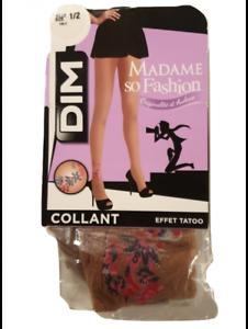 Collant DIM effet tatoo madame so fashion taille 1/2