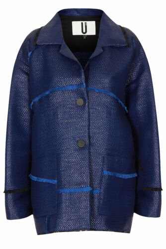 By In Topshop Blue Frayed Patchwork Made Jacket Britain Uk Unique 12 New nqSaIpWa