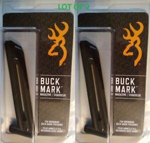 Lot-of-2-Browning-BuckMark-22lr-10-Round-Magazine-10rd-Mag-112055190-NEW-OEM