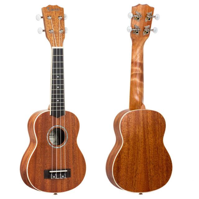 kmise soprano ukulele uke ukelele 21 hawaii guitar musical instrument mahogany for sale online. Black Bedroom Furniture Sets. Home Design Ideas