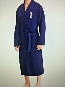 Robe About Ralph Lauren Men's Bear Details Polo Nwt Blue Fleece 2IWEHD9Y