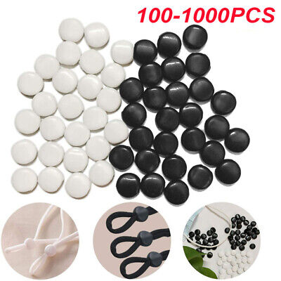 1000x Cord Locks Face Cover Elastic Cord Adjuster Beads Buckle Non