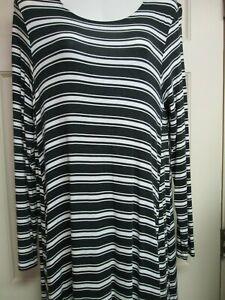 Black-White-Striped-A-Line-Dress-by-Mud-Pie-Size-Small-New