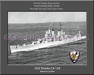 Naval Ship Photo Print USS TOLEDO CA 133 USN Navy