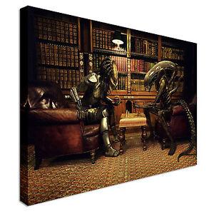 Image Is Loading Predator V Alien Chess Canvas Art Wall