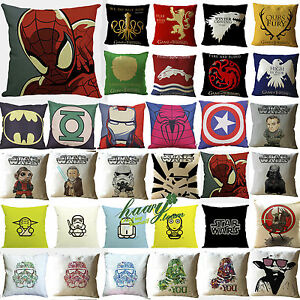 Star-Wars-Super-hero-Game-of-Thrones-Pillow-Case-Cushion-Cover-Home-Sofa-Bed-Dec